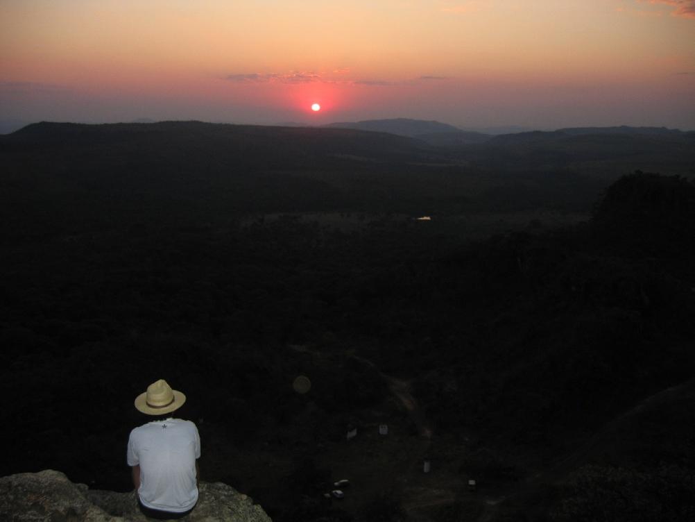 Quando o sol em Pirenópolis passa a pino